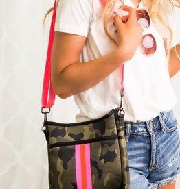 Dani & Em Neon Camo Neoprene Crossbody Bag