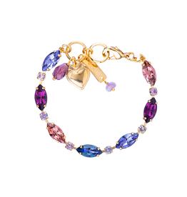Mariana Wildberry Petite Marquise and Round Bracelet