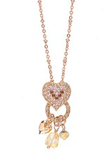 Mariana Chai Open Circle Heart Pendant with Dangle Charms