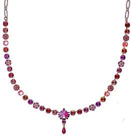 Mariana Hibiscus Petite Necklace with Rivoli Center Cluster
