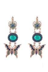 Mariana Chamomile Heart and Butterfly Swing Leverback Earrings