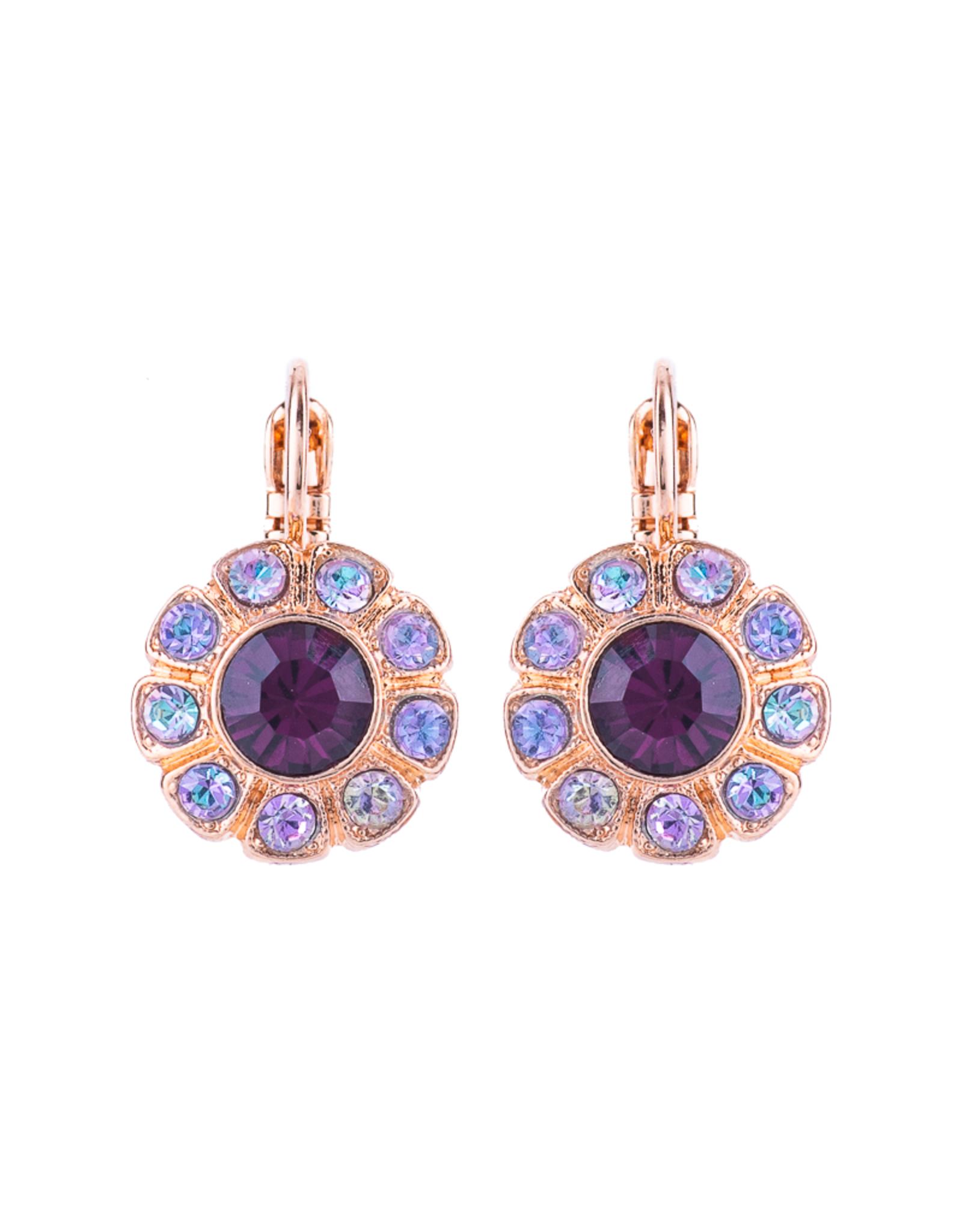 "Mariana Mariana Large Daisy Leverback Earrings in ""Wildberry"""