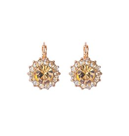 """Mariana Mariana  Extra Luxurious Flower Leverback Earrings in """"Chai"""""""