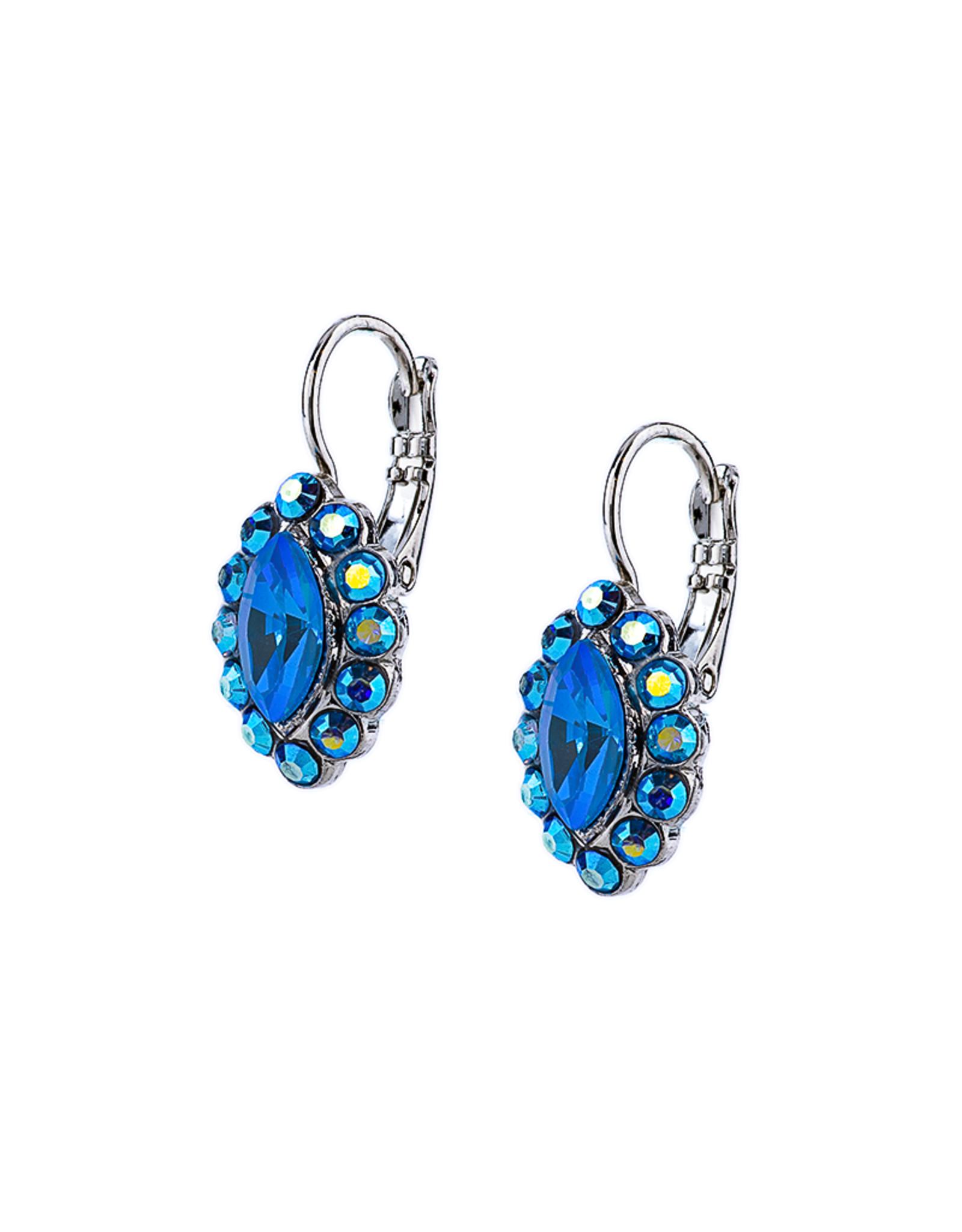 "Mariana Mariana Diamond Cluster Leverback Earrings in ""Sleepytime"""