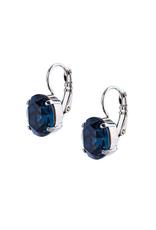 "Mariana Mariana Single Oval Leverback Earrings in ""Montana Blue"""