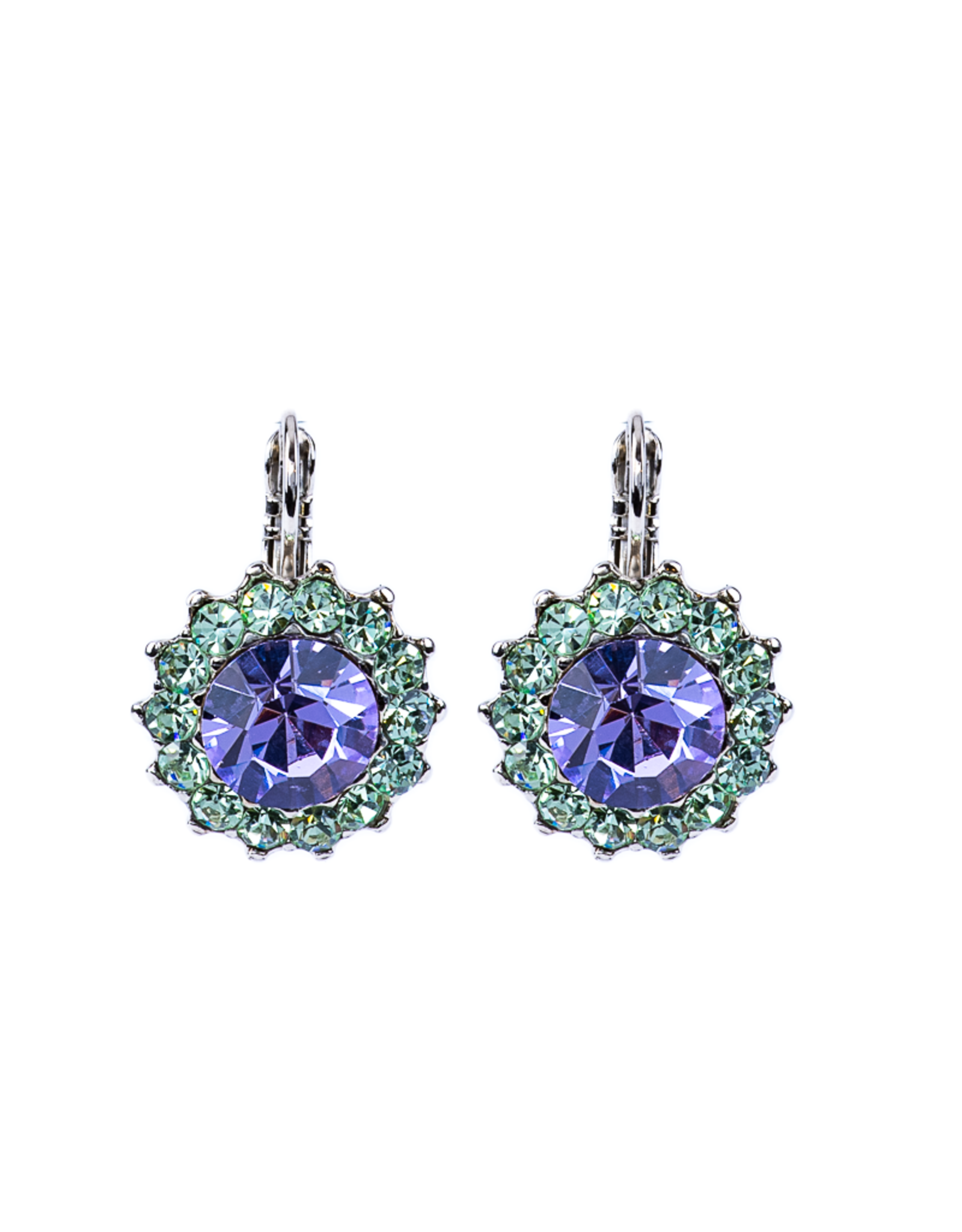 "Mariana Mariana Luxurious Flower Leverback Earrings in ""Matcha"""