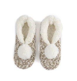 Shiraleah Grace Slipper Socks Oatmeal