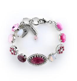 Micheal's Import Oval Halo Bracelet Cherry Blossom