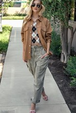 Trend:Notes Oversized Faux Suede Jacket