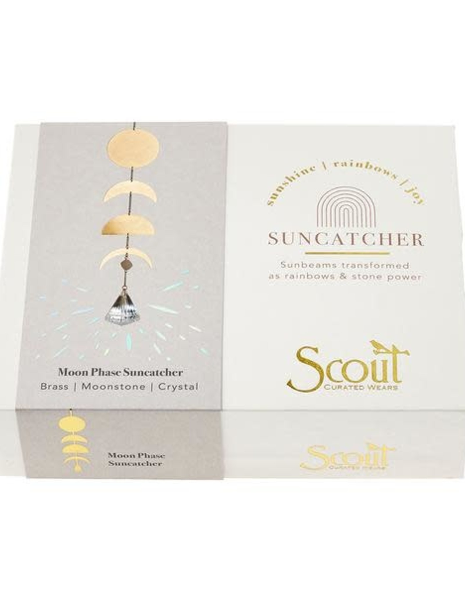 Scout Suncatcher- Moon Phase/Moonstone