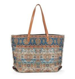 The Good Bead Poppins Carpet Bag - Teal/Tan