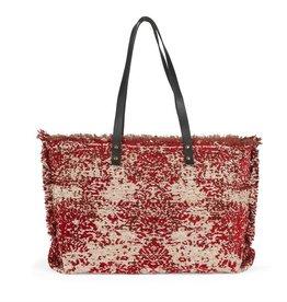 The Good Bead Poppins Carpet Bag - Red/Cream