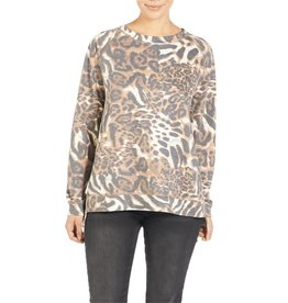 Coco & Carmen Julienne Animal Print Sweatshirt