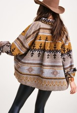 La Miel La Miel Mustard Aztec Jacket