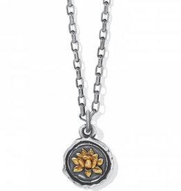 Brighton Ferrara Virtue Lotus Flower Necklace