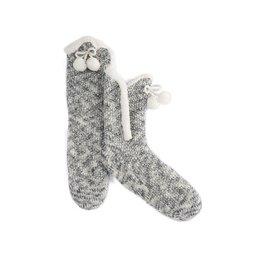 Shiraleah Heathered Grey Knit Slipper Socks