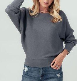Love Tree Rib Knit Off the Shoulder Dolman Sweater