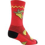 SockGuy SockGuy Crew Taco Socks - 6 inch - Red - Large/X-Large