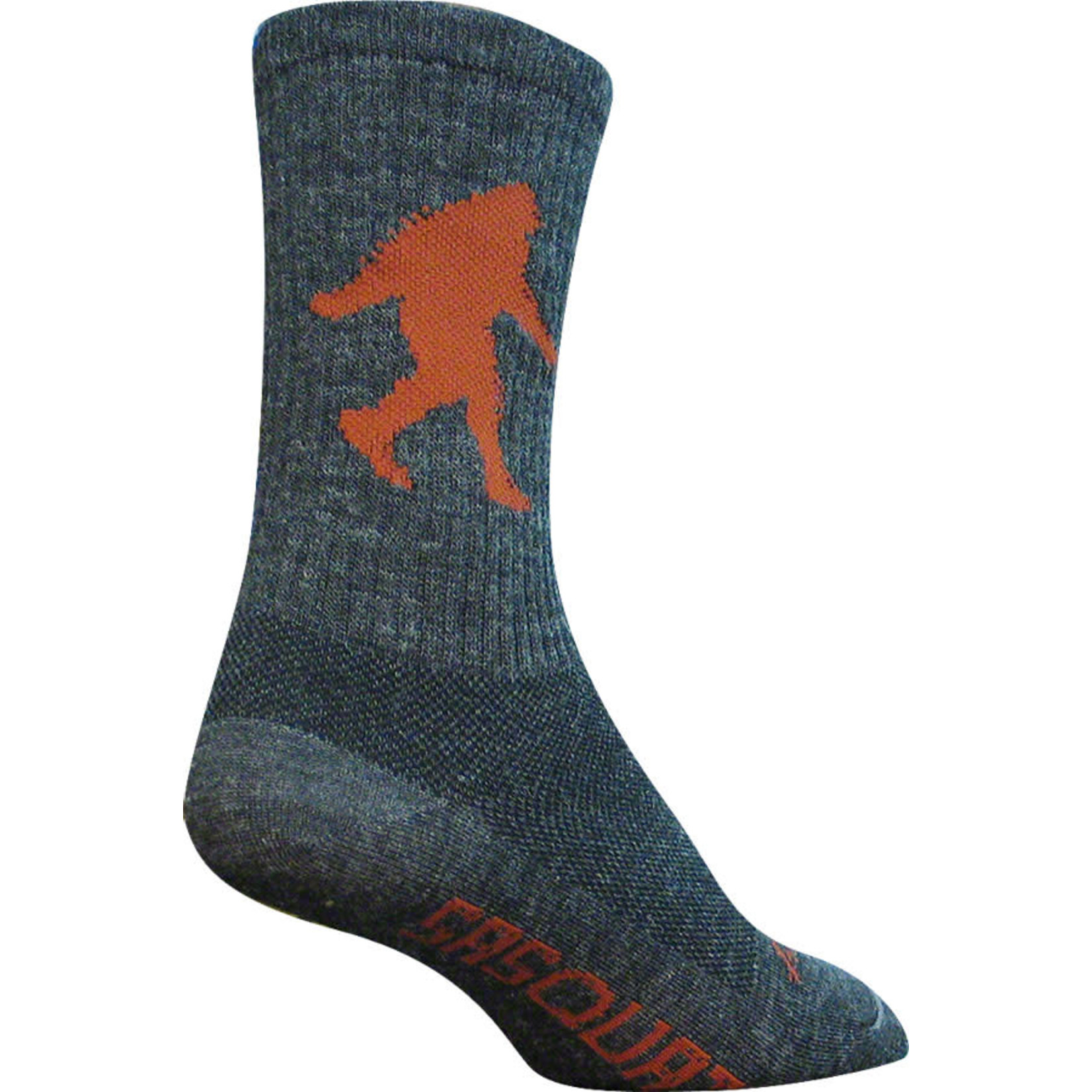 "SockGuy SockGuy Wool Sasquatch 6"" Crew Sock - Gray Large/X-Large"