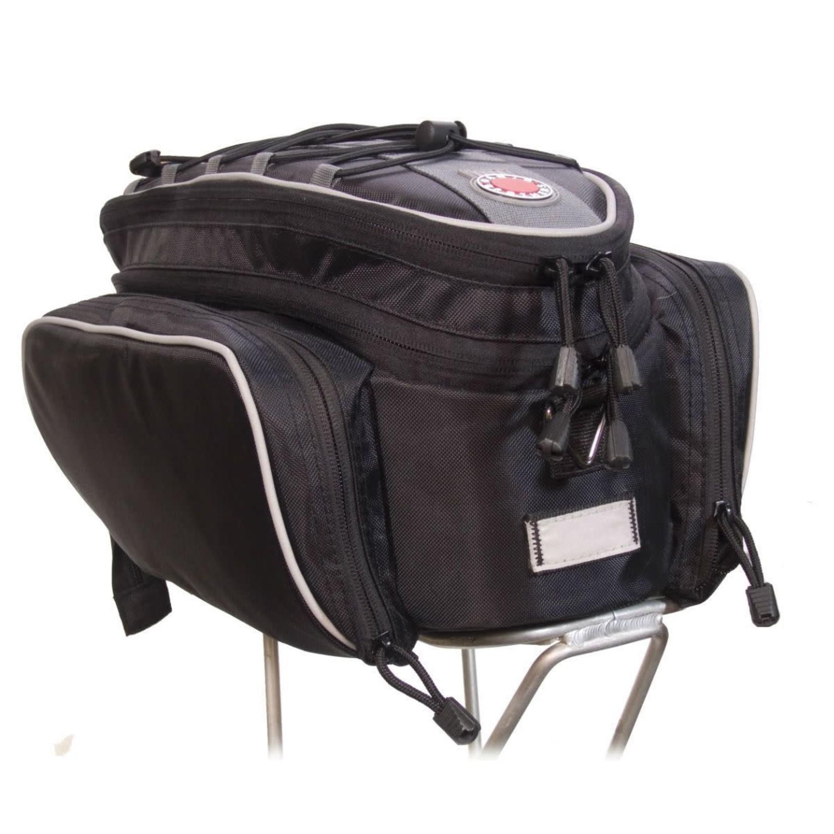 Banjo Brothers Rack Top Pannier Bag: Black