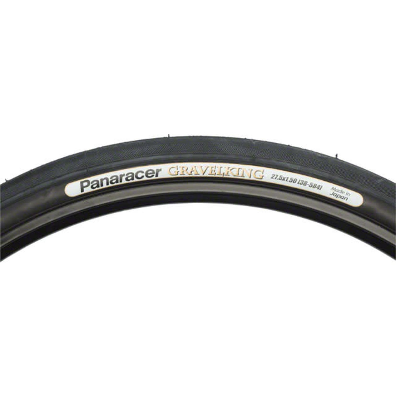 "Panaracer Panaracer GravelKing 27.5 x 1.5"" (650B x 38) Folding Tire Nearly Slick Tread, Black"