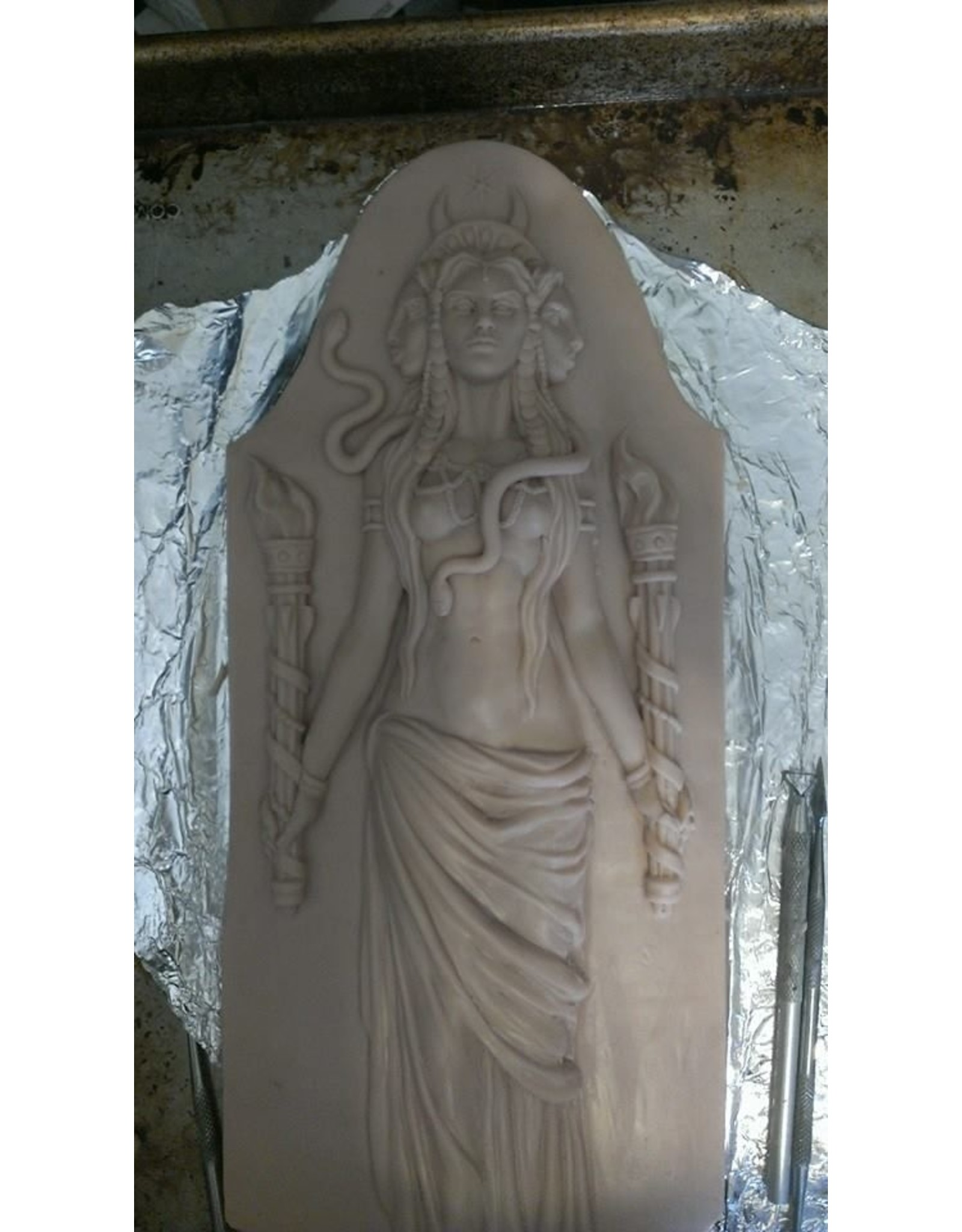 Hekate Plaque by Jeff Cullen