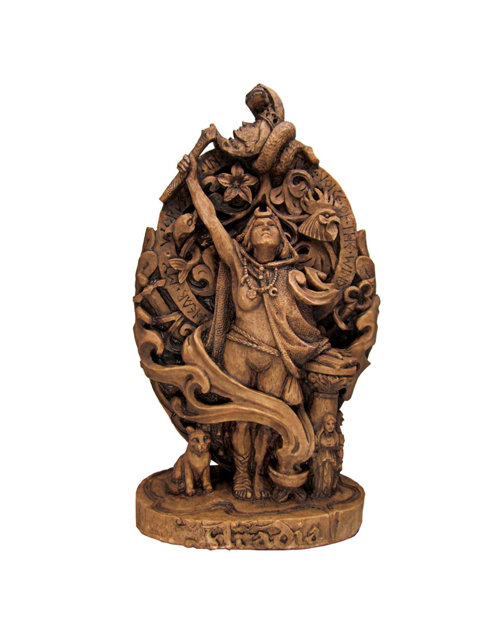 Aradia Statue in Wood Finish