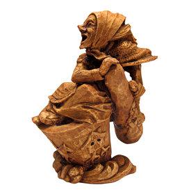 Baba Yaga Statue in Wood Finish