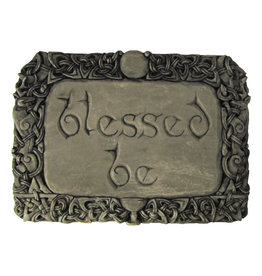 Blessed Be Plaque in Stone Finish
