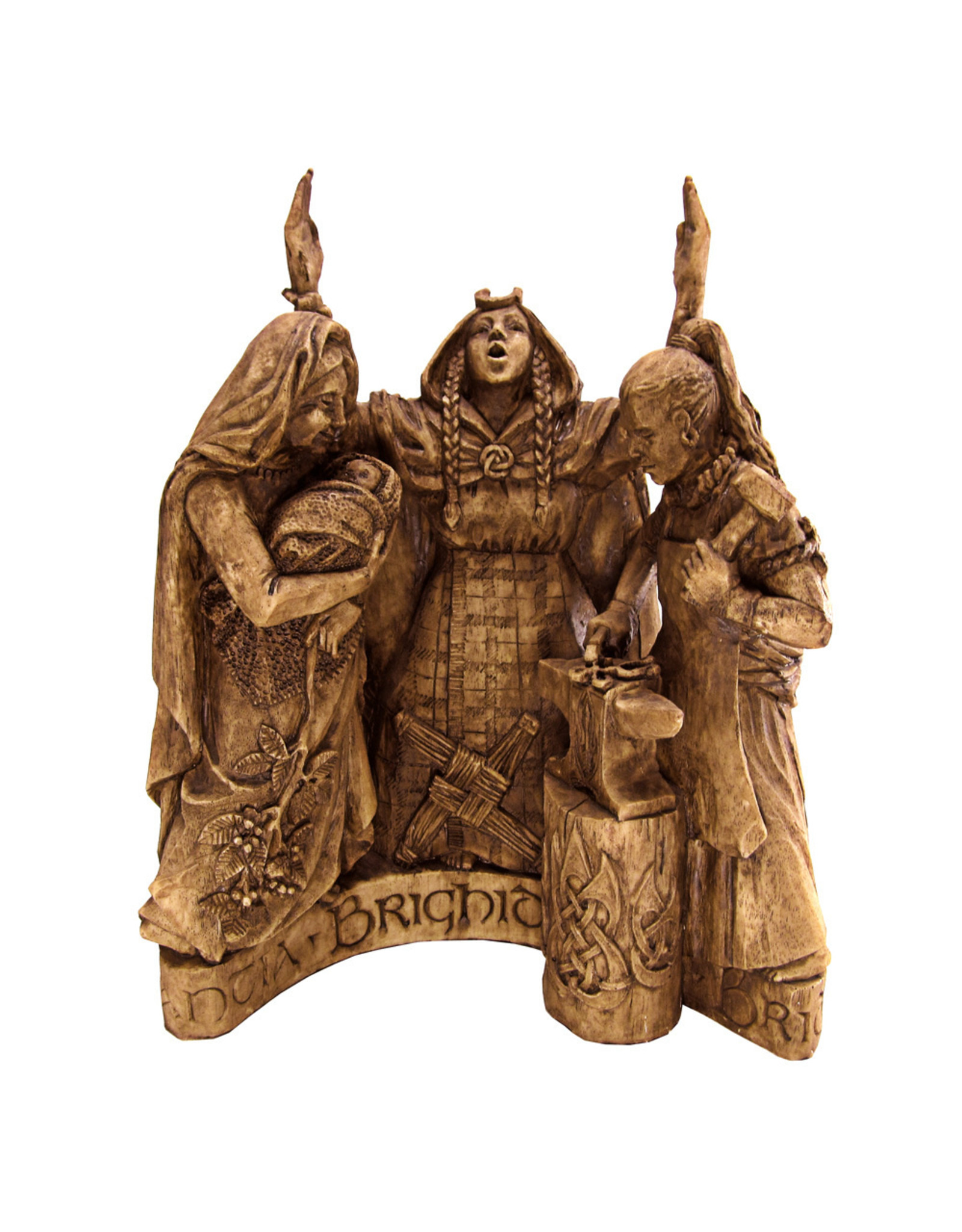 Brigid Statue in Wood Finish