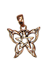 Butterfly Pentacle Small Pendant in Copper