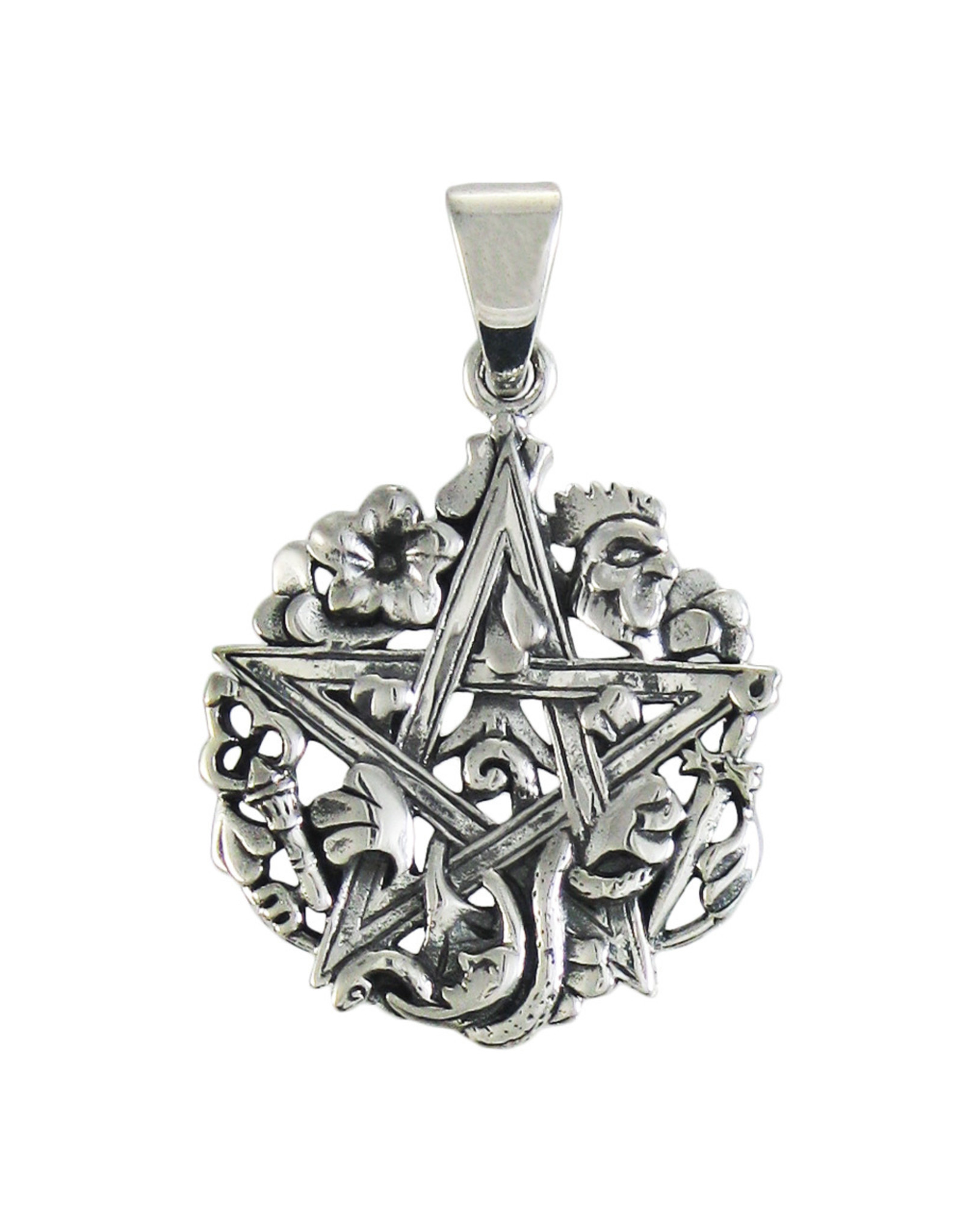 Cimaruta Pentacle Pendant in Sterling Silver