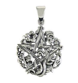 Cimaruta Pentacle Pendant in Sterling Silver