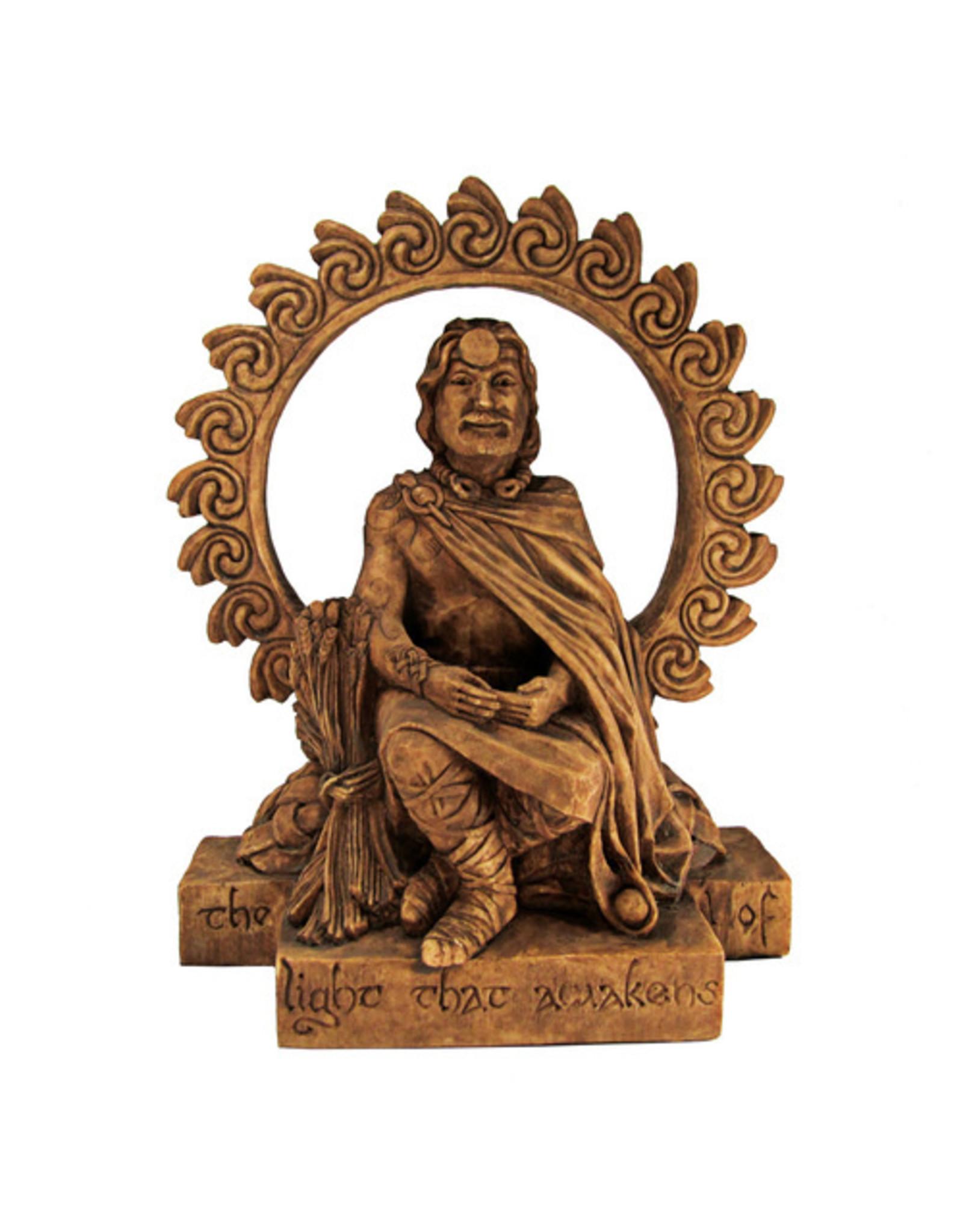 Lugh Statue in Wood Finish