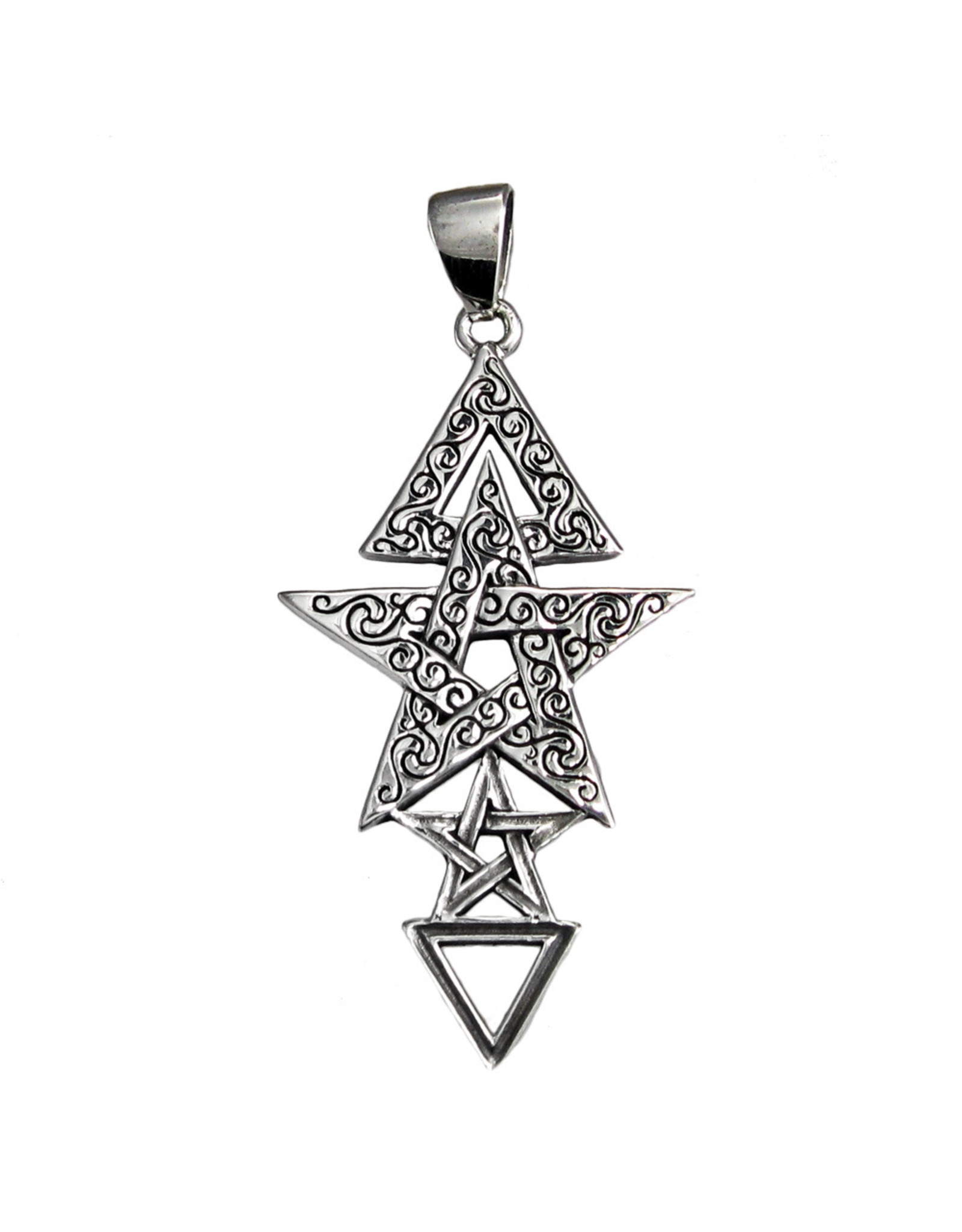 Third Degree Pentacle Pendant in Sterling Silver