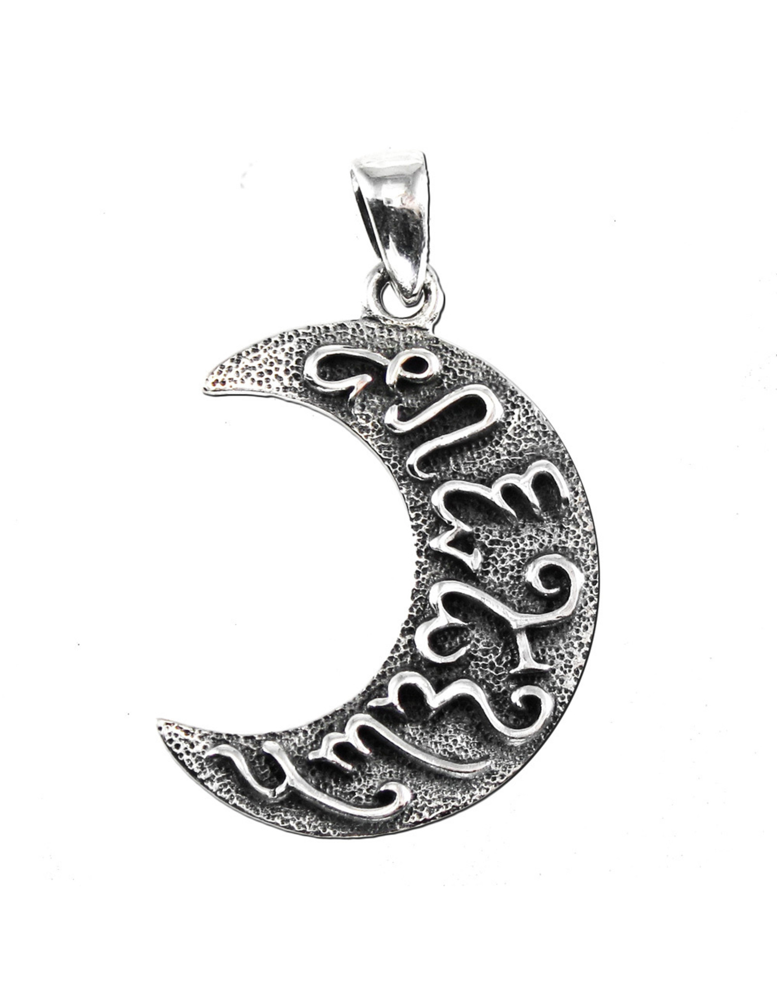 Theban Artemis Moon Pendant in Sterling Silver