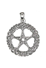 Rose Pentacle Pendant in Sterling Silver