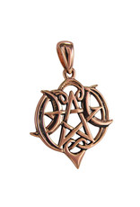 Heart Pentacle Small Pendant in Copper
