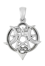 Heart Pentacle Pendant Small in Sterling Silver