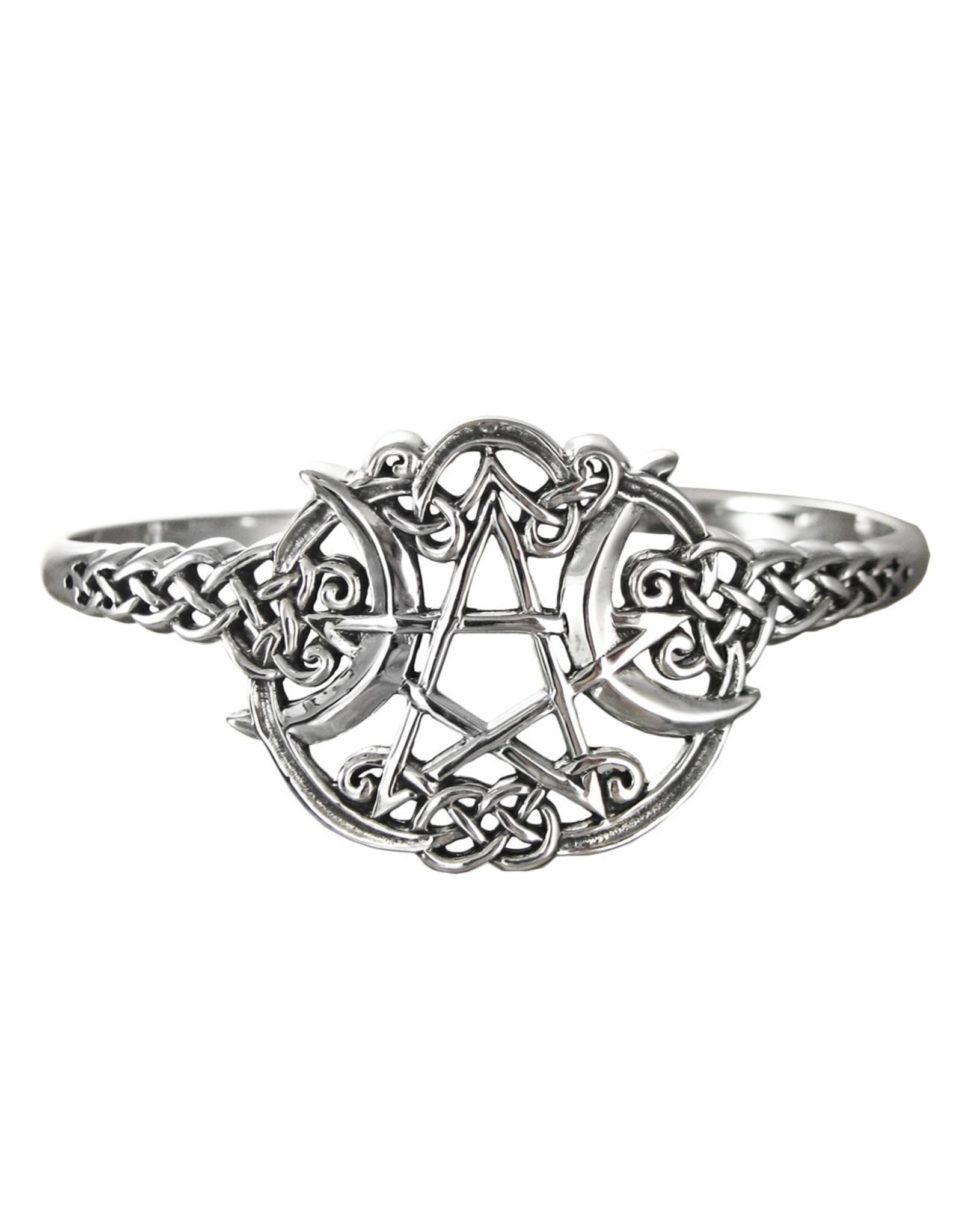 Heart Pentacle Bracelet in Sterling Silver