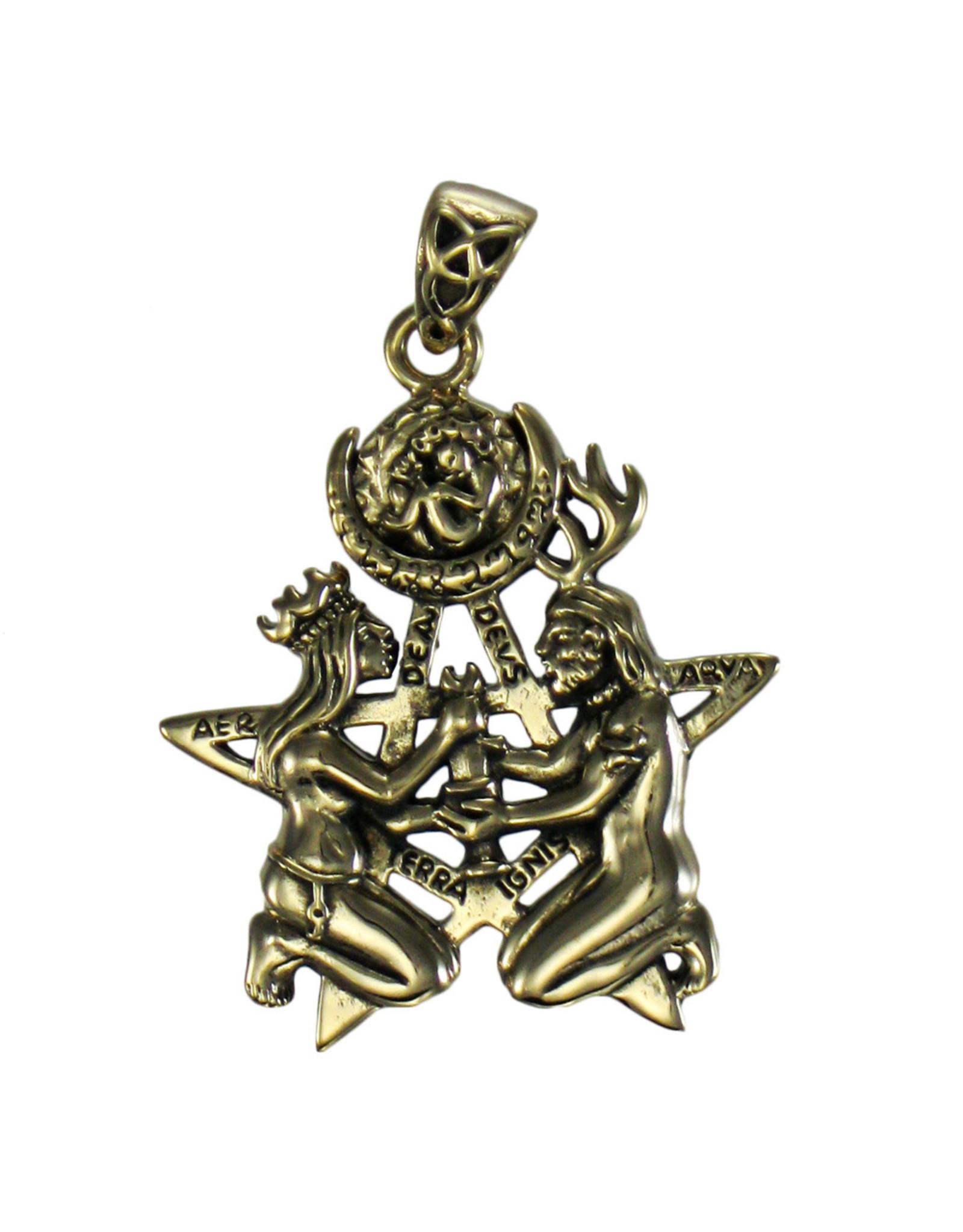 Great Rite Pentacle Pendant in Bronze