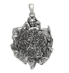 Fairy Pentacle Pendant in Sterling Silver