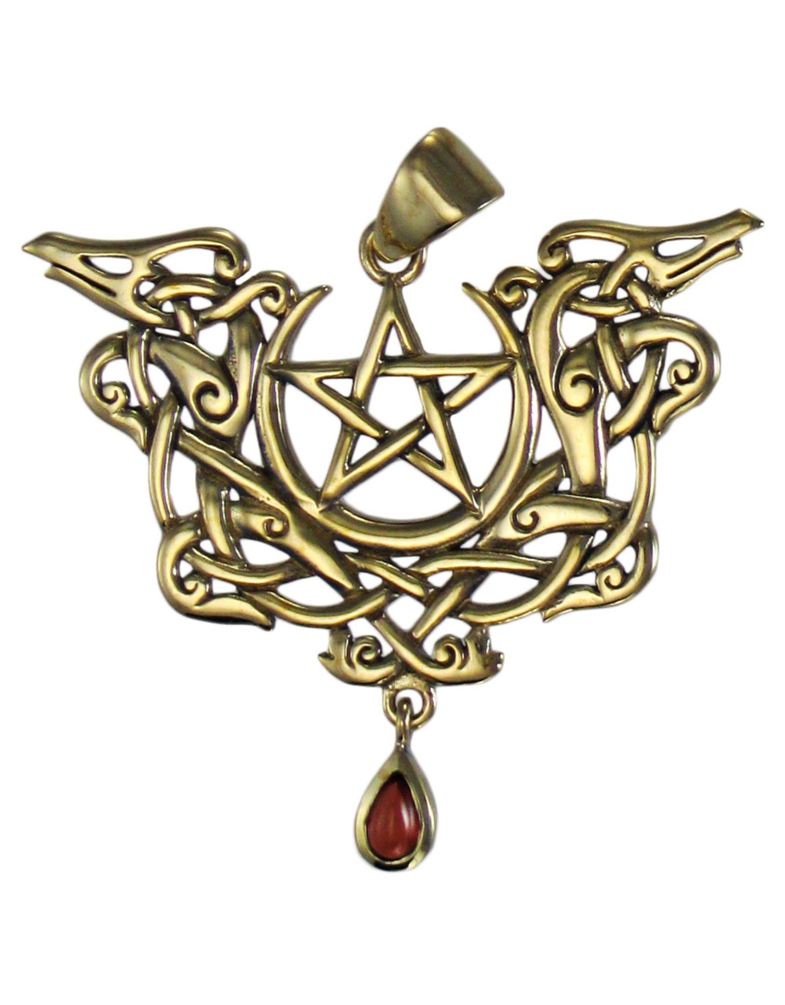 Dragon Pentacle Pendant in Bronze