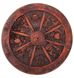 Wheel of the Year Plaque in Wood Finish
