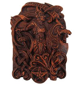 Morrigan Plaque in Wood Finish