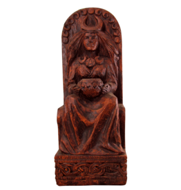 Seated Goddess Statue in Wood Finish
