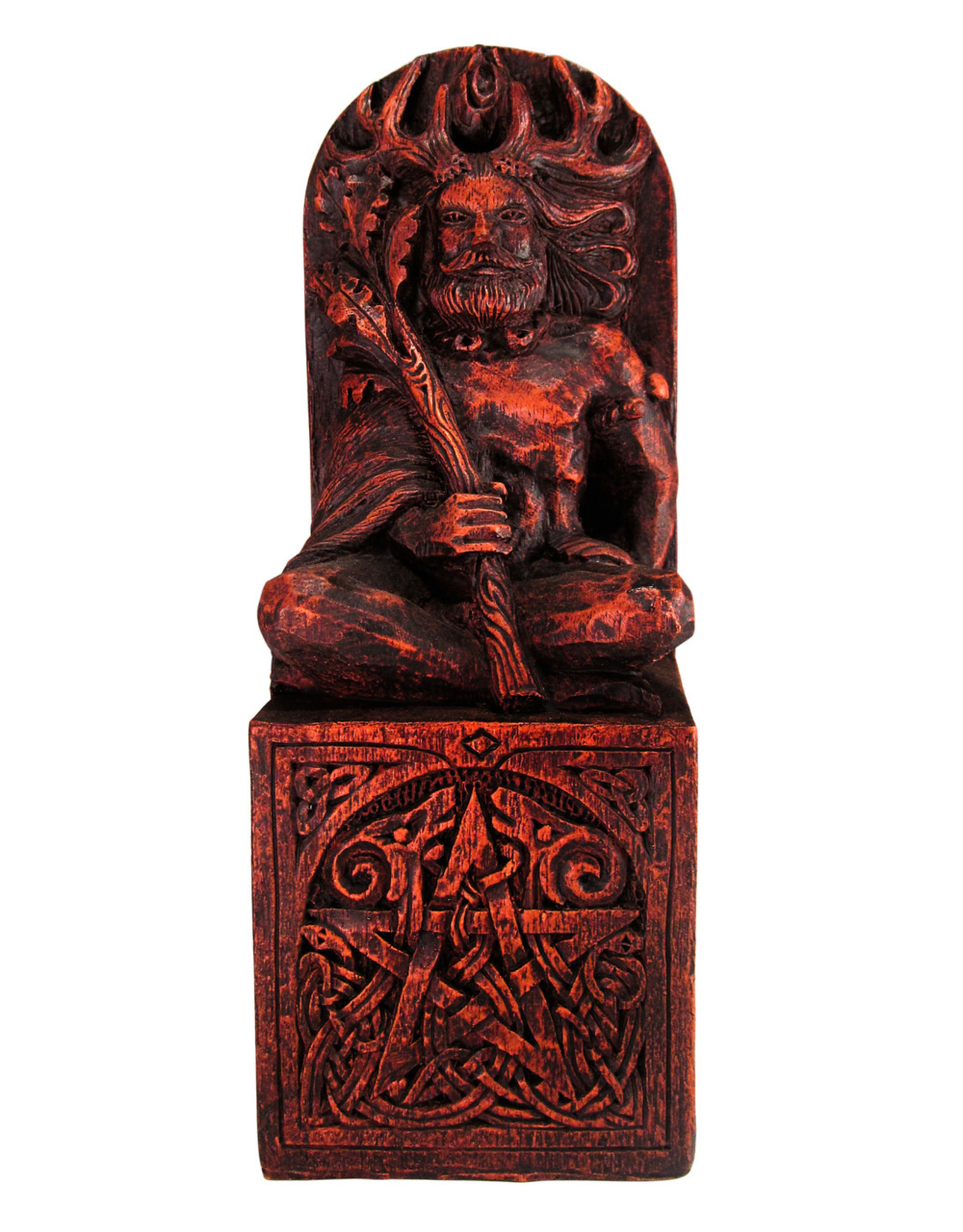Seated God Statue in Wood Finish