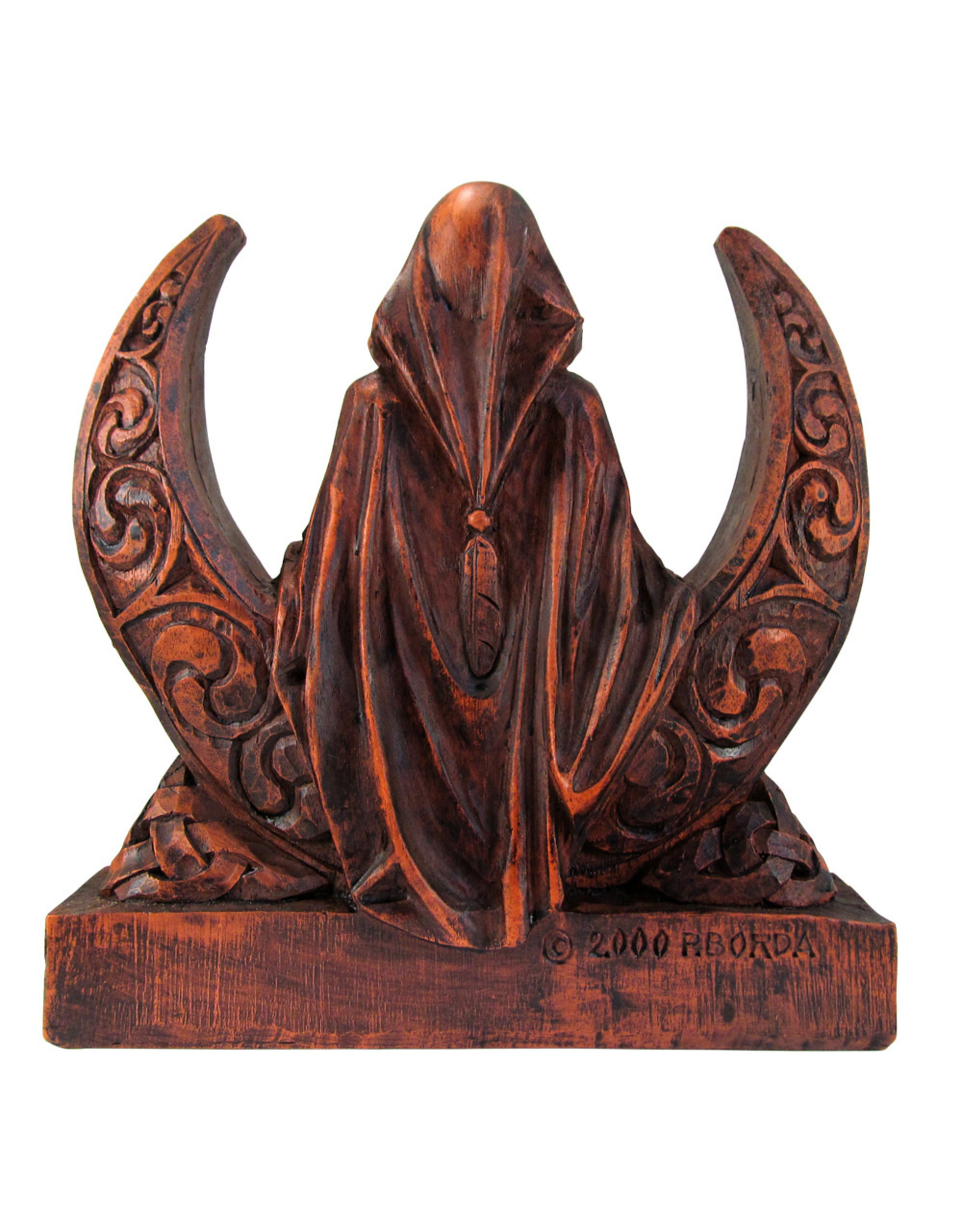 Moon Goddess Statue in Wood Finish