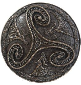 Triple Goddess Triskelle Plaque in Cold Cast Bronze