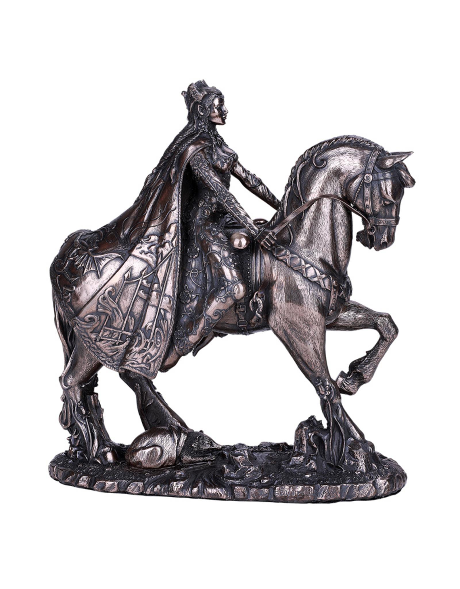 Rhiannon on a Horse Statue in Cold Cast Bronze